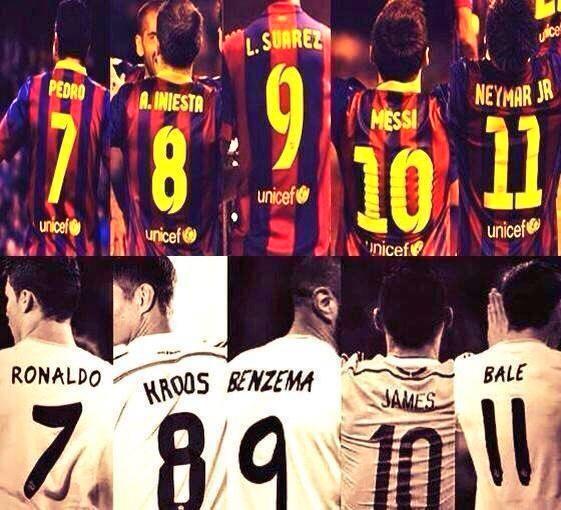 Full El Clasico squad Elclas10