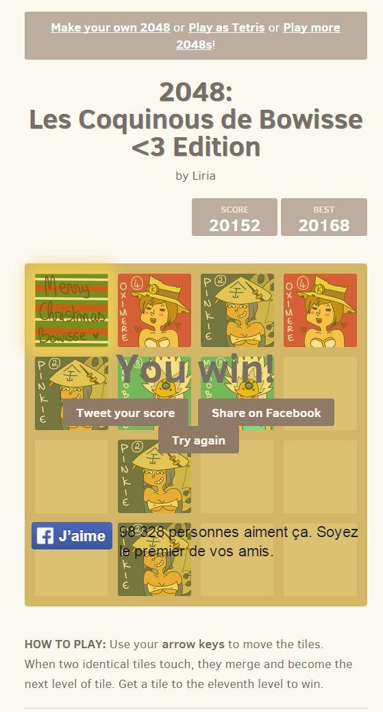 Les 2048 stylisés You_wi11