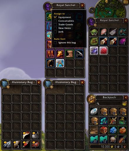 Stockage à Warlords of Draenor Sac10