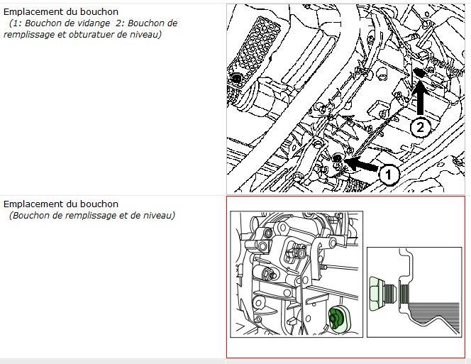 Remplissage huile de boite pour Renault Sanderro essence Rempli10