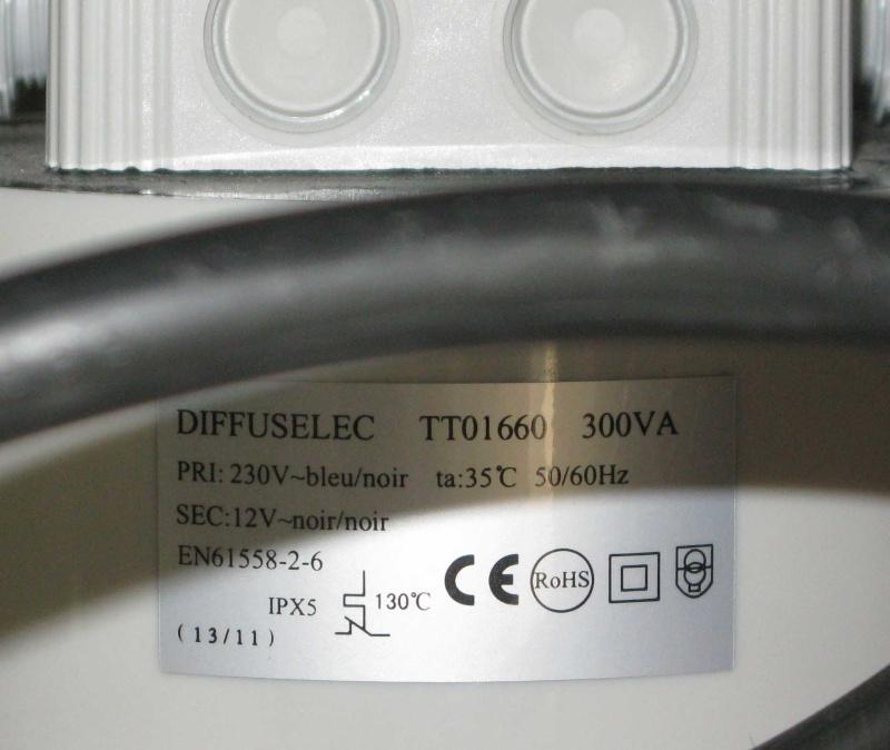 Demande conformité de mon ampoule led au transfo wat d'origine Transf10