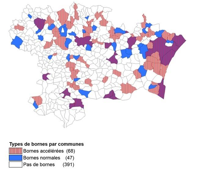 Bornes dans l'Aude Carte10