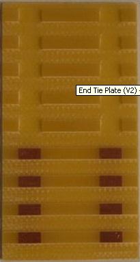 Por que o trilho têm q ser cortado 2,5cm da ponta do módulo? Etp-v210