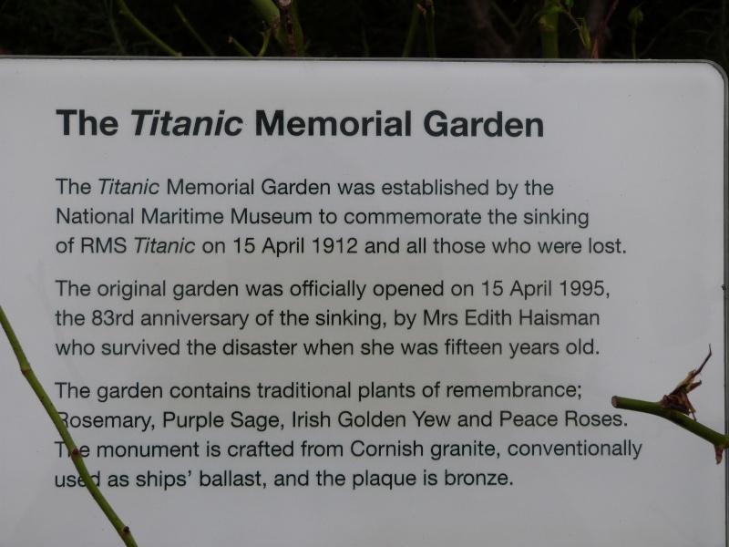 Mémoriaux Titanic de Greenwich P1090413