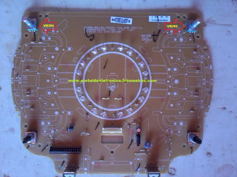 Mini system LG CM8330, CM8430, CM8530 e CMS9530F de 900W RMS não liga. Cm833010