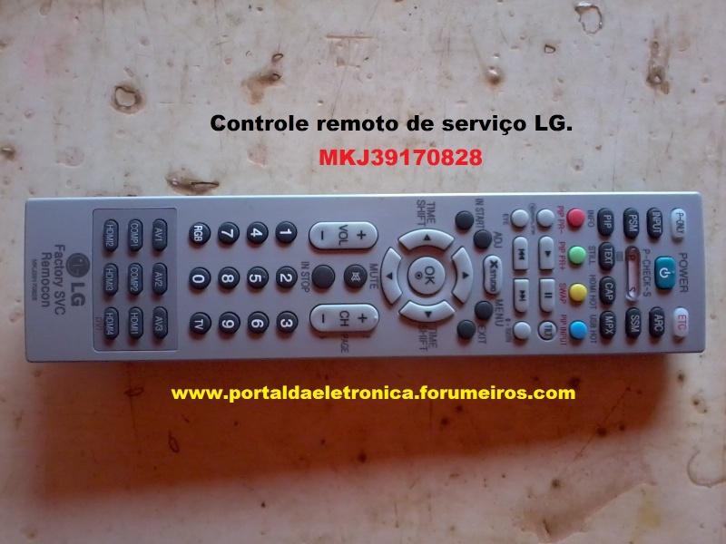 Modo de serviço dos televisores Plasma, LCD e LED marca LG Contro10