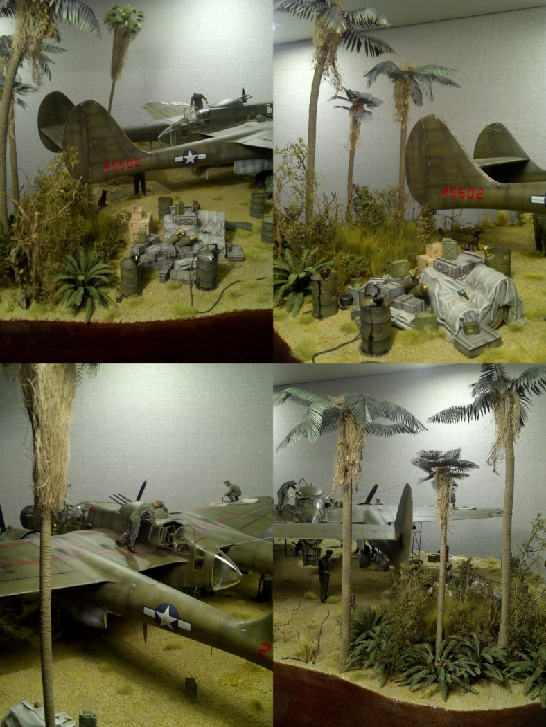 P-61  BLACK WIDOW / HOBBY BOSS 1/32 ( diorama ) - Page 3 Montag12