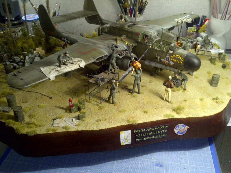 P-61  BLACK WIDOW / HOBBY BOSS 1/32 ( diorama ) - Page 3 Saint-31