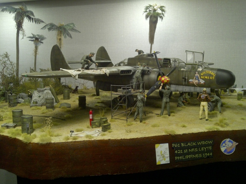 P-61  BLACK WIDOW / HOBBY BOSS 1/32 ( diorama ) - Page 3 Saint-34