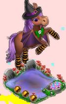 poney* - Poney Halloween Oeil de Tigre Sans1244