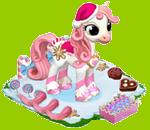 Poney sucre d'orge/Licorne Patineuse => Crin de Poney Rose Sans1484