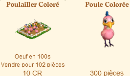 Poulaillers / Poulailler Coloré / Poulailler des Bleus / Poule Football / Poulailler Flocon de Neige => Oeuf Sans_502