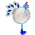 Paon blanc => Plume de Paon Blanc Whitep15
