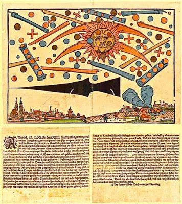 UFOs over Nuremberg, Germany 1561  Woodcu10