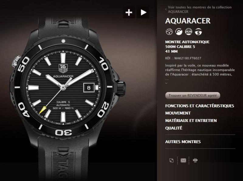 TAG Heuer Aquaracer All Black année 2011 ou Tudor Pélagos Captur19