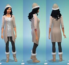 Furry Hat and Boots for Females by Zebew 14603610