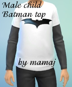 Batman Top for male child by mamaj Batman10