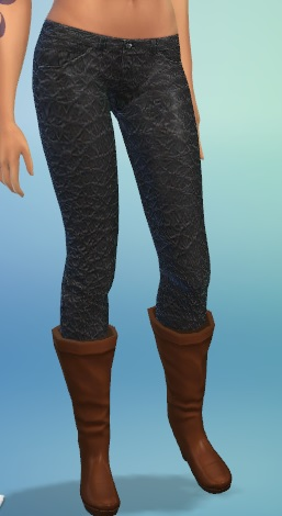 Skinny Leather Jeans for yf Black_10