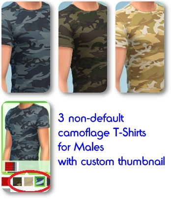 Male Camoflage T-Shirts by Mamaj Camo_b10