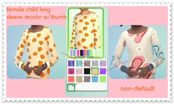 Female child long sleeve recolors w/thumb by mamaj Cf_lon10