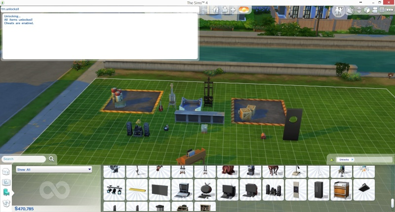 Mod The Sims - Unlock All Build/Buy Content Cheat Add on by TwistedMexi Mts_tw10