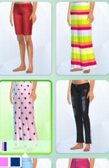 Pink poka-dot maxi skirt for yf Pokado10