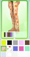 Female Child Longfootless Pumpkin Tights by mamaj Pumpki11