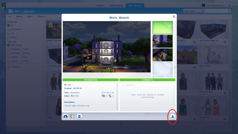 Sharing creations in TS4 (non-gallery) & Downloading Tutorial The_do10