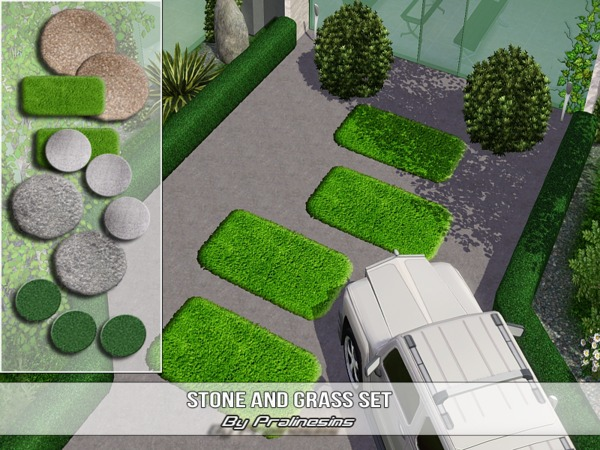 Stone and Grass set by Pralinesims W-600h13