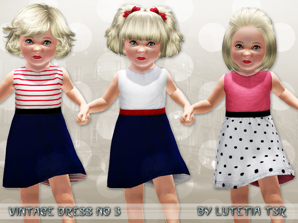 Vintage Dress for female Toddler by Lutetia W-600h16