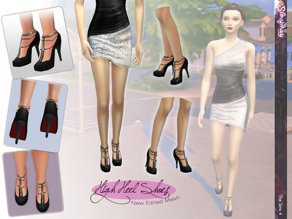 Chain T-Strap dress shoes by Simsimay W-600h24