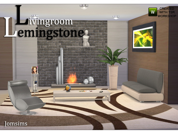 Living Room Lemingstone by jomsims W-600h28