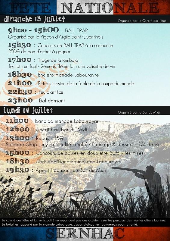 SERNHAC Fête Nationale du 13 et 14 Juillet 2014 13_et_12