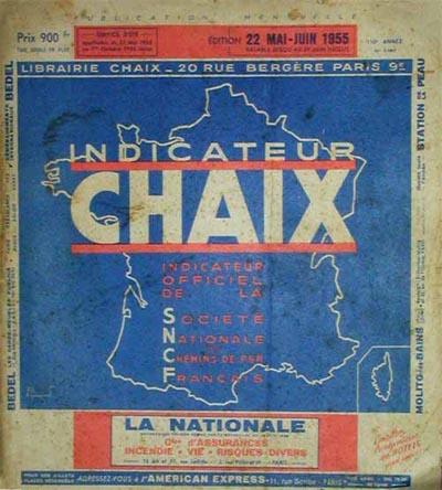 """Une de mes """"bibles""""... L'Horaire SIMON de 1897 Chaix_13"""