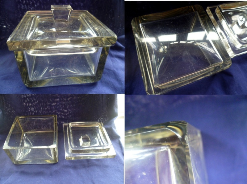 Lead Crystal cut glass box - Early 20th Century Abox10