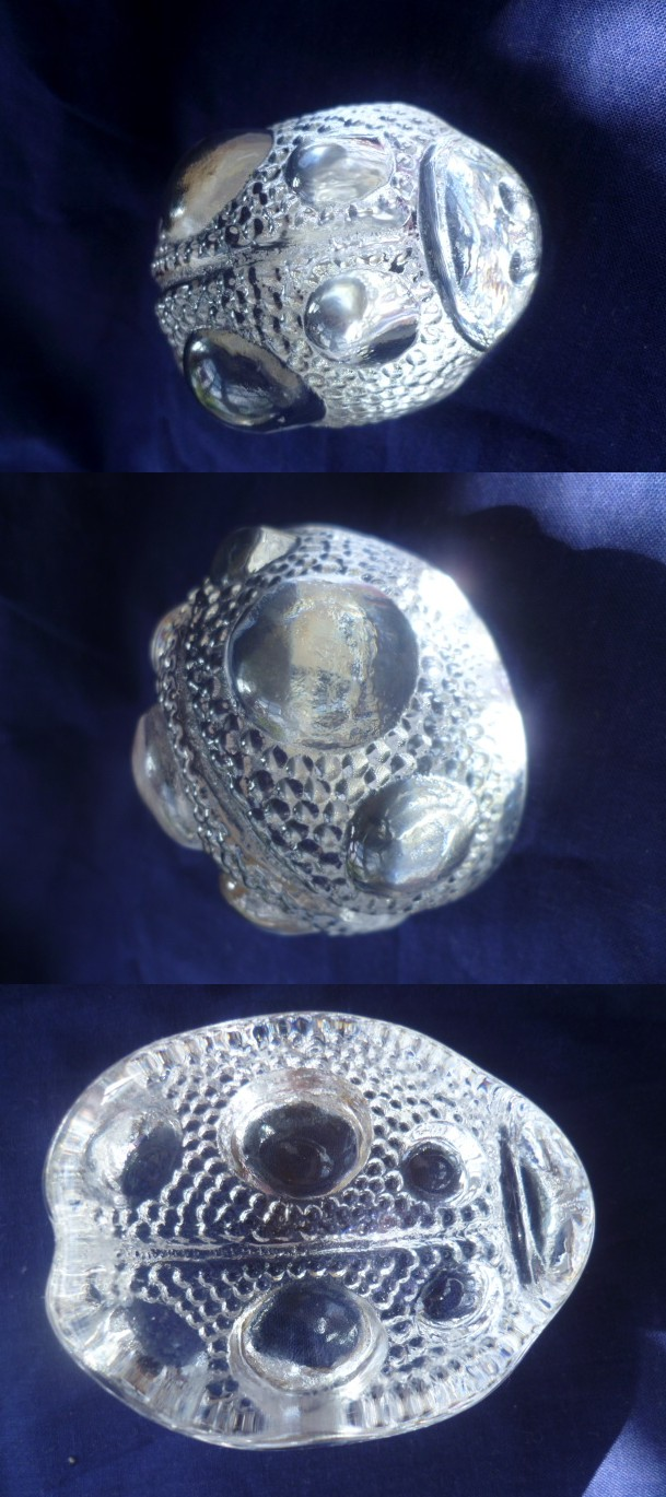 Hideous crystal paperweight possibly a ladybug Alady10