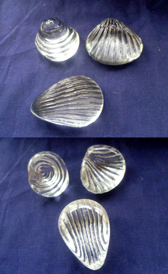 Crystal Glass Seashells - Could be modern but rather nice Ashell10