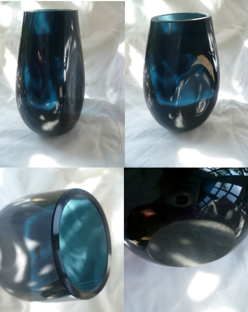 Dimpled Vase with cut rim and flat cut base. I feel I should know this one Dimple10