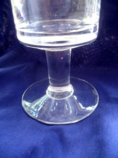 Tall 39 cm clear glass lidded Bon Bon jar - vintage or new? P1070313