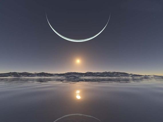 Impact d'éruptions solaires sur la lune 810