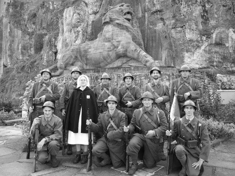France 1940 - troupes en casernement dans la citadelle de Belfort. Belfor12