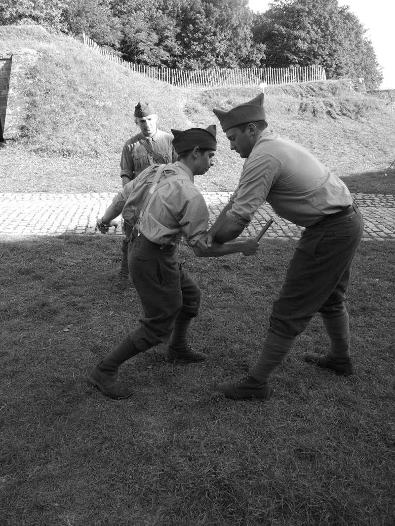 France 1940 - troupes en casernement dans la citadelle de Belfort. Combat10