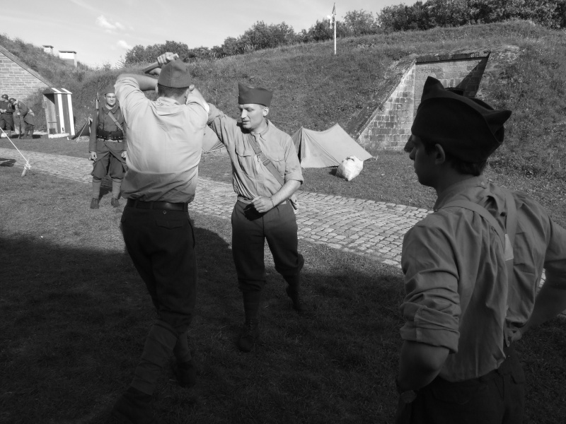France 1940 - troupes en casernement dans la citadelle de Belfort. Combat11