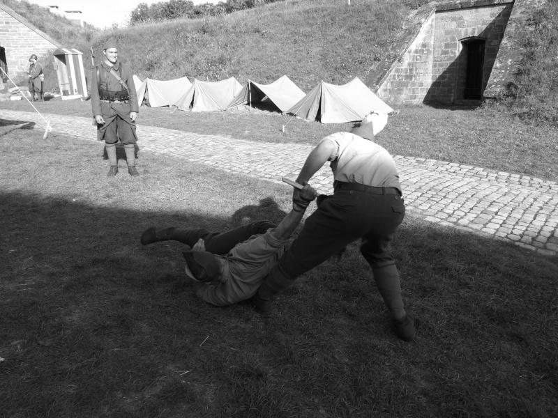 France 1940 - troupes en casernement dans la citadelle de Belfort. Combat12