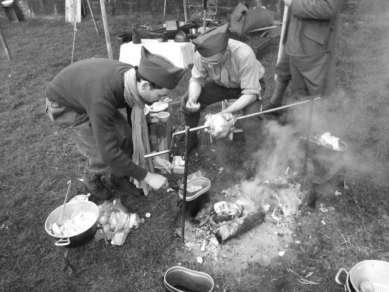 France 1940 - troupes en casernement dans la citadelle de Belfort. Cuisin10