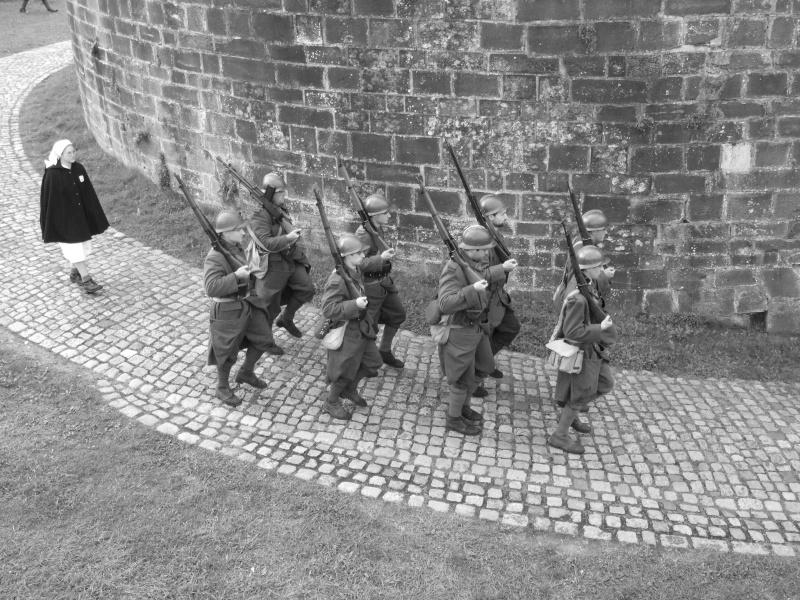 France 1940 - troupes en casernement dans la citadelle de Belfort. Groupe10