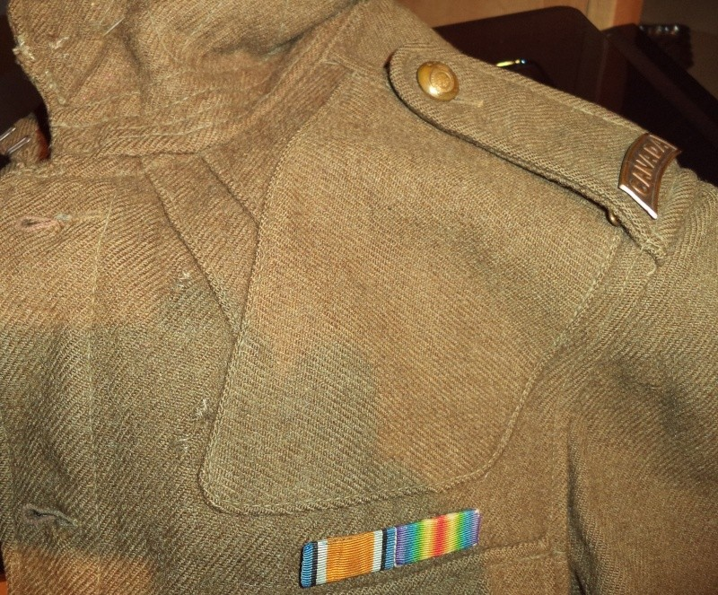 70th Overseas Battalion, Canadian Expeditionary Forces, tunic 2013-030