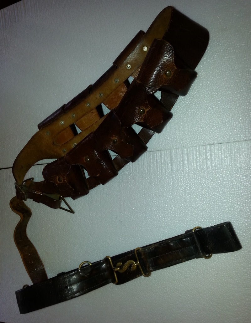 Canadian leather snake belt & ammo bendouiliere 2014-124
