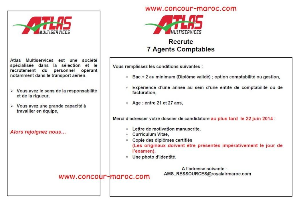 أطلس مولتي سيرفيس : مباراة لتوظيف محاسب (7 مناصب) آخر أجل لإيداع الترشيحات 19 يونيو 2014 Concou65