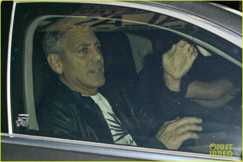 George Clooney Out To Dinner in LA Sunday Night  19 October 2014 G-eati11